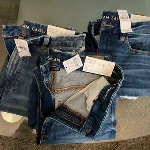 Lot of 3 BNWT American eagle jeans sz 6 28w